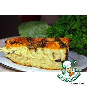 Рецепт Пирог с цуккини, брокколи и оливками