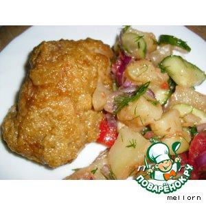 Рецепт Курица в кабачковой икре