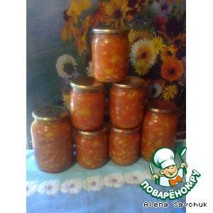 Рецепт Фасоль с перцем в томатном соке