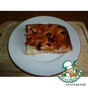 Рецепт Пирог из миндального теста с творожно-вишневой начинкой