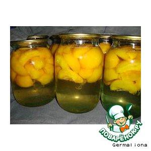 Рецепт Персиковый компот