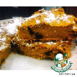 Рецепт Тыквенный пирог-суфле с изюмом