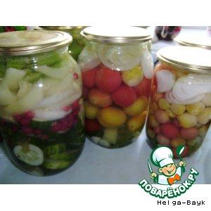 Рецепт Овощное ассорти в желе