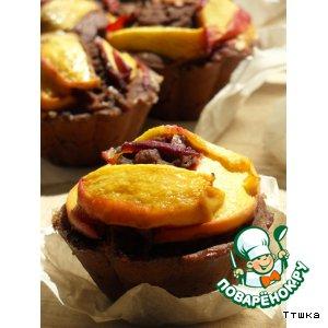 Рецепт Маффины на рисовой муке с персиками