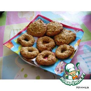 Рецепт Ореховое печенье из кукурузной муки