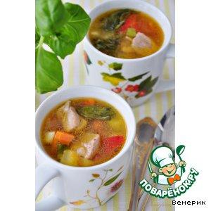 Рецепт Диетический суп-гуляш с овощами и с индейкой