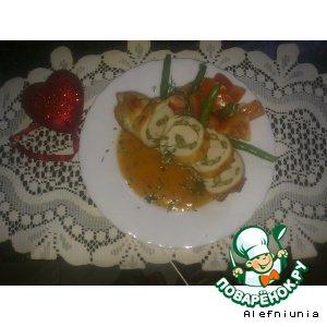 Рецепт Рулеты из индейки с фасолью