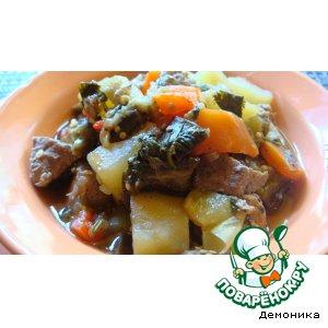 Рагу из овощей с мясом домашний рецепт приготовления с фотографиями