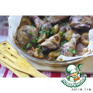 Рецепт Курица со сливами в медово-винном маринаде