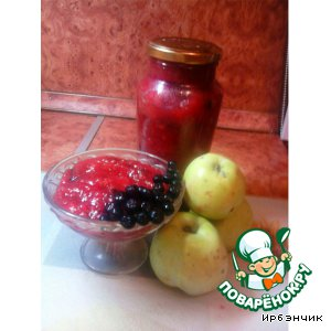 Рецепт Варенье из яблок и черной рябины
