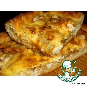 Рецепт Пирог с курицей и сыром