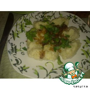 Рецепт: Кнедлики картофельные