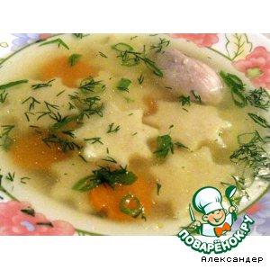 Рецепт Суп с заварными манными клецками