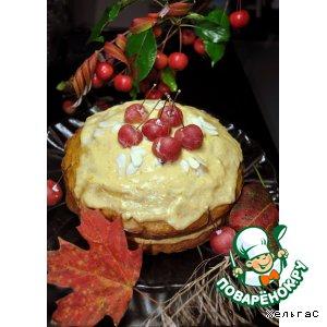 Рецепт Кекс осенний с яблоками, морковью и тыквенной кремовой прослойкой