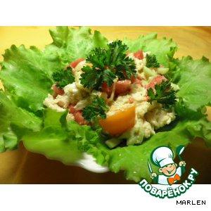 Рецепт Салат куриный с овощами