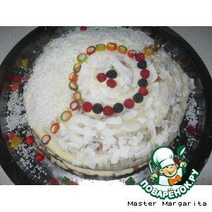 Рецепт Медово-Сметанный тортик