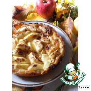 """Рецепт Яблочный пирог с карамельно-сливочной заливкой """"Яблочная осень"""""""