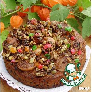 """Рецепт Кекс  """"Осенняя сказка"""" с глазированными фруктами и орехами"""