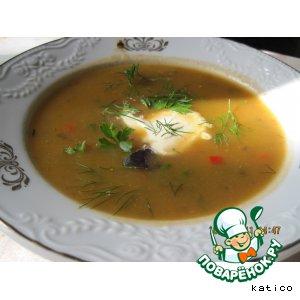Рецепт Овощной суп-пюре с баклажанами и тыквой