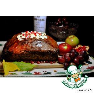 Рецепт Кекс для осенних посиделок  -  с маком, гранатом, лимонной цедрой и присыпанный миндалeм
