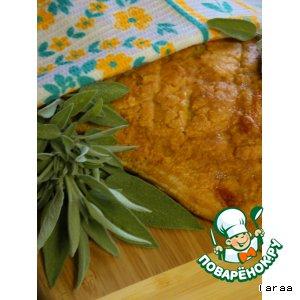 Рецепт Багет с сырно-томатно-шалфейной начинкой