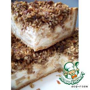 Рецепт Ванильный яблочно-творожный пирог