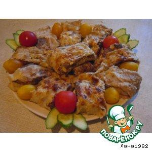 Рецепт Куриный рулет в лаваше