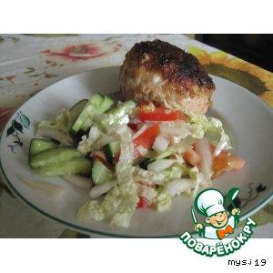 Рецепт Котлеты из куриного филе с сыром -1