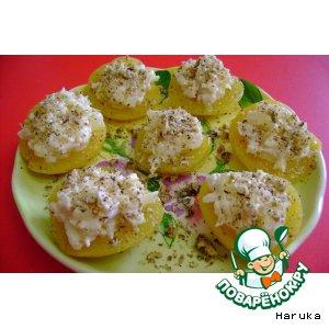 Готовим домашний рецепт с фото Порционный салат с ананасом в персиках