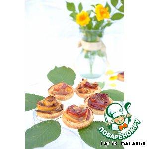 """Рецепт Яблочные тарталетки """"Карамельные цветы"""" с домашней карамелью"""