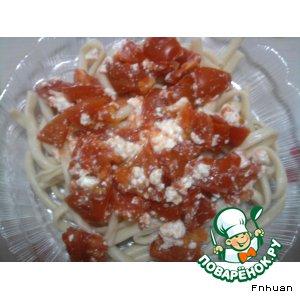 Рецепт Паста с томатами и сыром фета