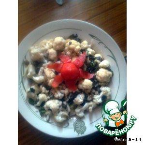 Рецепт Маринованная цветная капуста  с базиликом