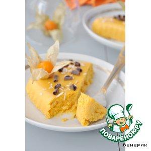 Рецепт Тыквенный чизкейк, приготовленный в пароварке