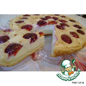 """Рецепт Сливово-творожный пирог """"Нежность"""""""