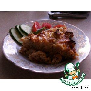 Рецепт Запеканка из цветной капусты с креветками