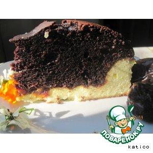 Рецепт Творожная запеканка с шоколадным кексом и финиками