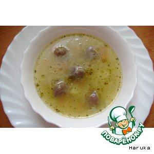 Рецепт Суп с куриными сердечками и красной чечевицей