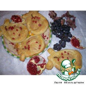 Рецепт Слойки из домашнего теста со сладкими грушами