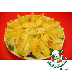 Рецепт Запеченный картофель с чесноком, шафраном, прованскими травами и паприкой