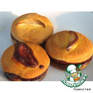 Рецепт Шоколадно-яблочные булочки