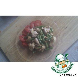 Рецепт Куриная грудка с зеленой фасолью