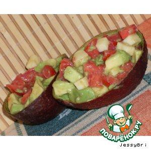 Рецепт Сырный салат с авокадо