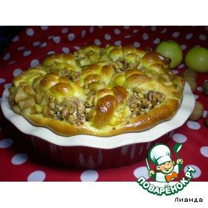 Рецепт Дрожжевой пирог с тремя начинками