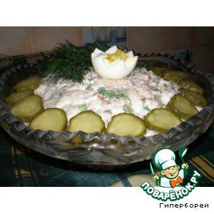 """Рецепт Салат с фасолью и утиным мясом """"Царский"""""""