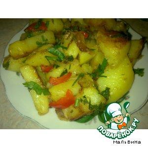 Рецепт Картофель жареный с курдюком