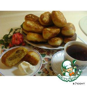 Рецепт Пирожки с чечевицей и грудинкой