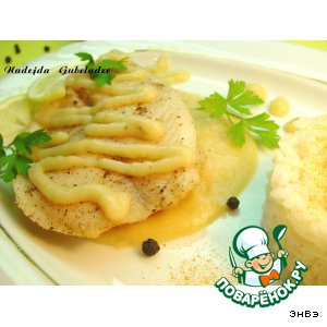 Рецепт Рыба с винно-луковым соусом