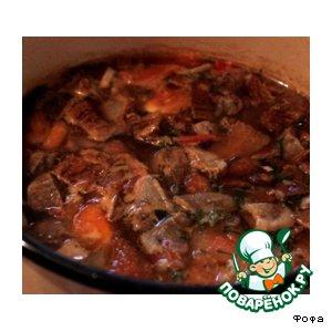 Рецепт Суп грибной с мясом