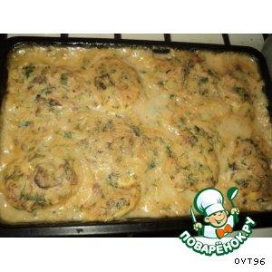 Рецепт Запеченные яйца под соусом с лососем