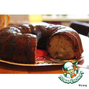 Рецепт Фруктовый кекс с шоколадной глазурью